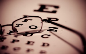 low vision eye chart